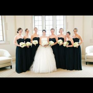 JCrew Strapless Bridesmaid Dress (Midnight Blue)